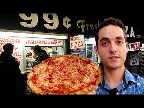 Living Cheap in NYC- Dollar Pizza Challenge ! 🍕