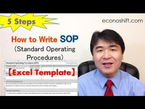 SOP 5 Steps: How to Write Standard Operating Procedures【Excel Template Practice】 (Lean Six Sigma)