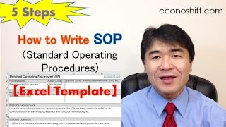 SOP 5 Steps: How to Write Standard Operating Procedures【Excel Template】