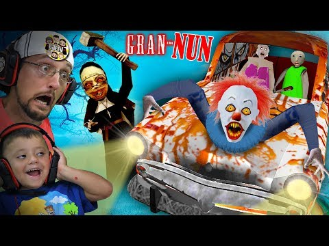 something-is-wrong-with-granny-game!!-gran-nun?-(fgteev-plays-crazy-mods)