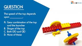 Grade 4 (Question 2) - The speed of the top depends upon.....