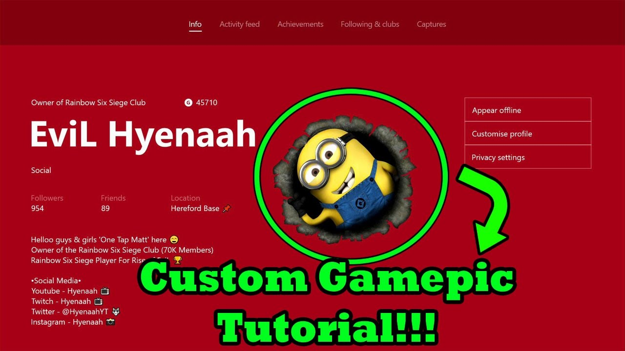 How To Get A Custom Xbox One Gamerpic Xbox One Insider Alpha Ring Youtube