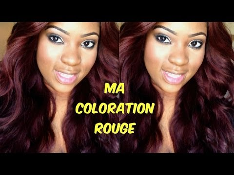 ma coloration rouge bordeaux - Coloration Rouge L Oreal