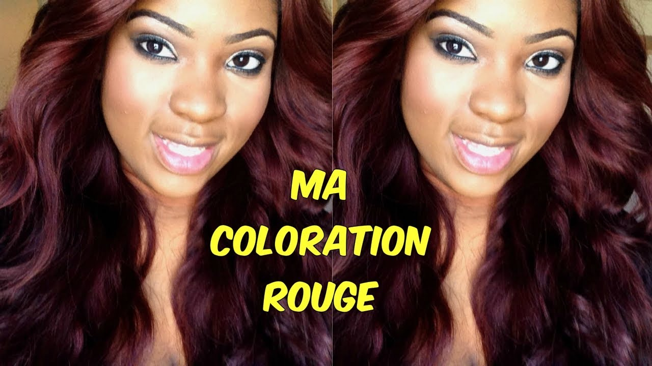 Extrêmement Ma coloration rouge bordeaux - YouTube EZ39