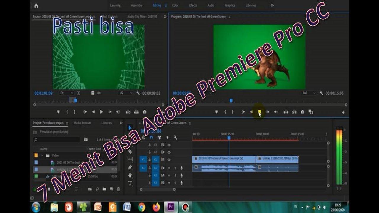 Cara edit Video di adobe premiere pro cc pemula - YouTube