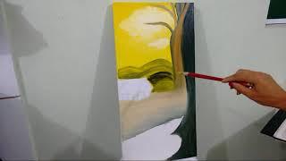 Como pintar tela?Paisagem/Dicas