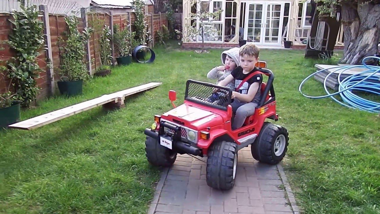 Toby Is Driving Peg Perego Gaucho Hi Torque 12v Jeep Youtube Modified Power Wheels Need Help