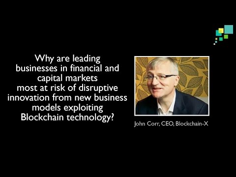 Why are leading businesses in financial and capital markets most at risk of disruptive innovation?