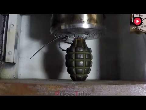 500吨的液压机压子弹和手雷会发生什么呢?