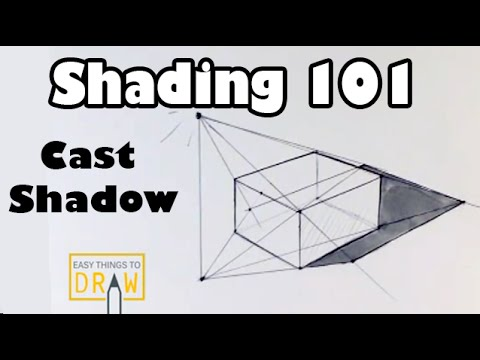Shading 101:  Learn to Draw a Cast Shadow - Easy Things to Draw