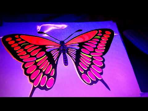 Amazing uv glow butterfly by craft paper