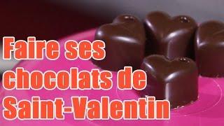 Faire des chocolats aphrodisiaques en forme de cœur - idée dessert pour la saint valentin