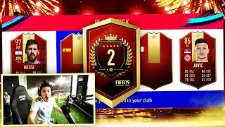 2ND IN THE WORLD TOP 100 REWARDS!! RED MESSI?? FIFA 19