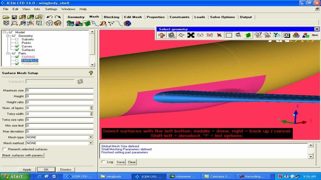 ANSYS ICEM CFD 14 - DLR-F6 Wing body meshing Part 1