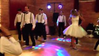 Wedding party dance off