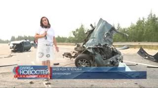 Водитель легкового автомобиля чудом остался жив после тяжёлой аварии