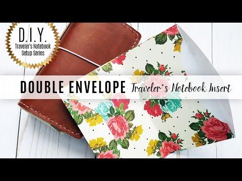 DIY Traveler's Notebook Setup Series: Double Envelope Insert Template & Cut Files