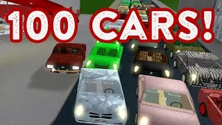 ROBLOX | Welcome To Bloxburg: 100 CARS!!! (people got mad)