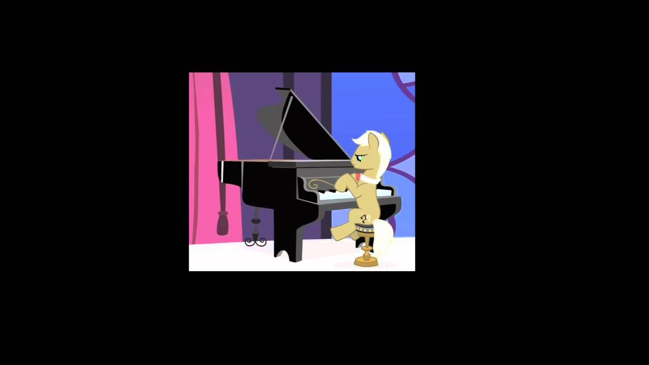 MLP: Piano - A My Little Pony character playing a piano.  The music is from 1993 New Zealand movie The Piano.