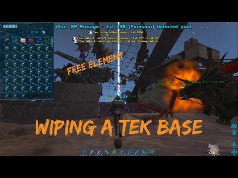 Wiping A Tek Base + Juicy Tek Loot | Ark Official PvP