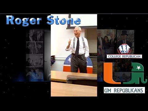 Roger Stone 4/11 Remarks at University of Miami / College Republicans