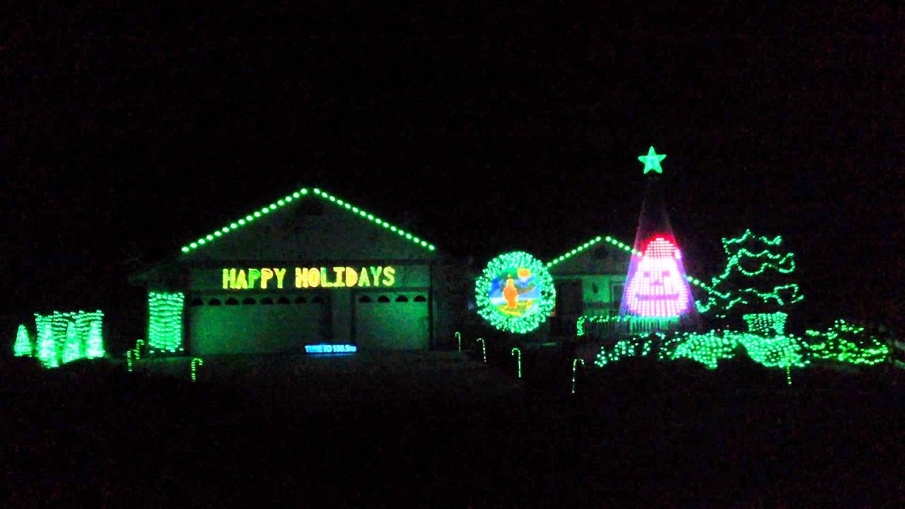 2014 - Mr. Grinch Christmas Light Show - YouTube