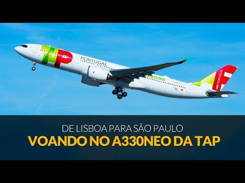 Como é voar no Airbus A330 NEO da TAP de Lisboa para São Paulo