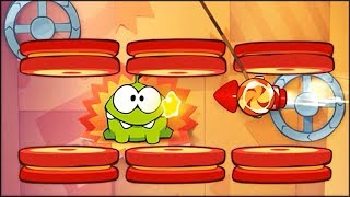 Cut the Rope: Experiments - Area 4 - Rocket Science Walkthrough (all stars collected)