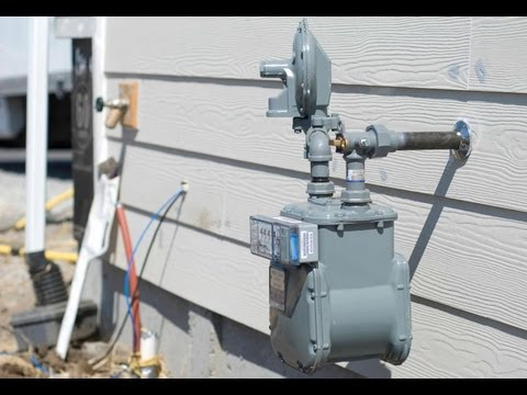 Installing natural gas service: New home construction