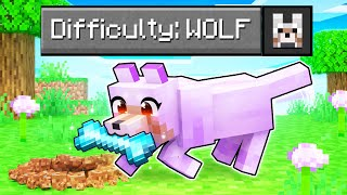 We Played Minecraft In Difficulty: WOLF MODE!