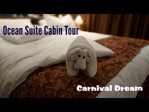 A Tour of the Ocean Suite on Carnival Dream; Cabin 7370