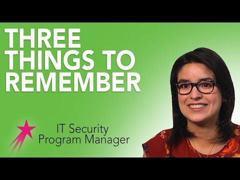 It Security Program Manager: Advice - Beatris Mendez Gandica Career Girls Role Model