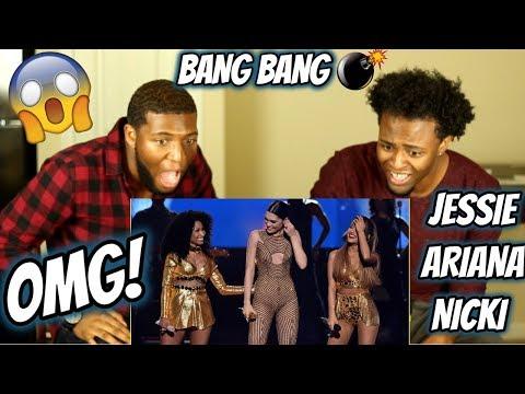 Jessie J ft. Ariana Grande & Nicki Minaj - Bang Bang AMA's 2014 (CRAZY REACTION)