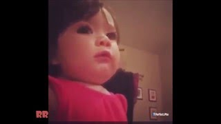 Adorable Cute Little Girl Singing let it go like a pro
