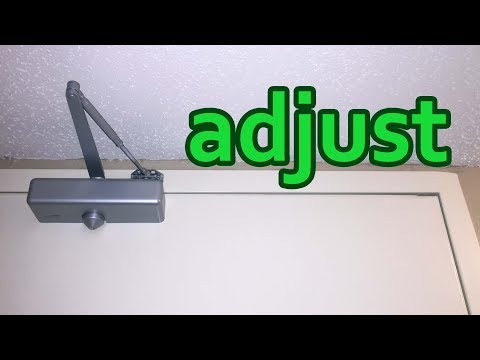 Door Closer Adjustment. Adjusting Ryobi Doorman Closing And Opening Speed