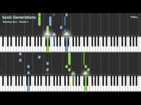 Sonic Generations - Rooftop Run (Modern) - Tricky & Awesome for Piano