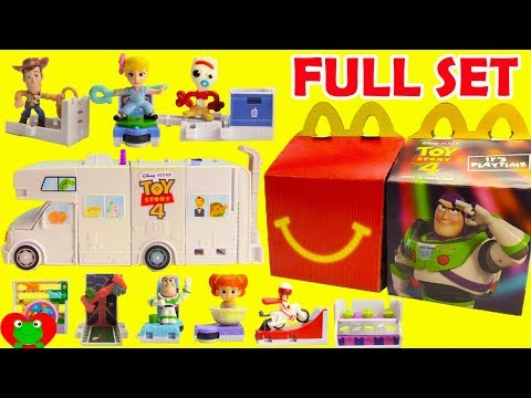 Build Your Own 2019 Toy Story 4 RV McDonald's Happy Meal Toys Full Set