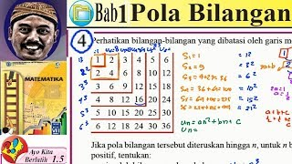 pola bilangan, matematika kelas 8 BSE  kurikulum 2013 revisi 2017 lat  1,5 no 04, Un dan Sn dari