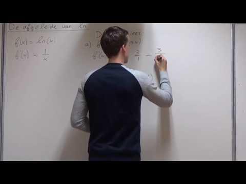 Differentiëren - LN differentiëren (VWO wiskunde A)