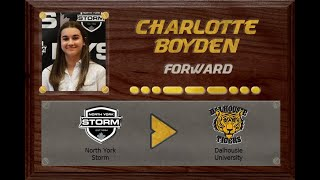 Charlotte Boyden - Ontario Female Midget AA to USPORT | Stand Out Sports Client Hall of Fame