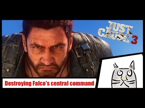 Just Cause 3: Destroying Falco's central command (with bavarium nuke defences up)