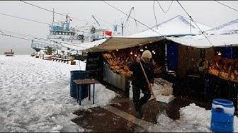 Besondere Wetterlage: Schnee in Istanbul