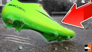 Boots vs Concrete! ⛔ What Not To Do To Your ⚽ Boots!