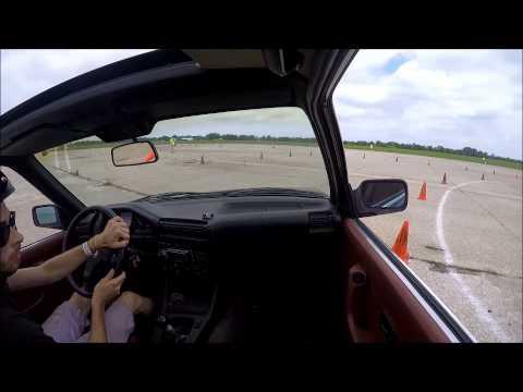 Campaign County Sports Car Club CCSCC Autocross Rantoul Illinois Aviation Center 7/12/15 BMW 325ES