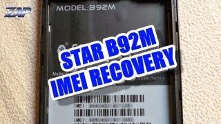Star B92M IMEI restore / repair / recovery / how-to tutorial - MT6577 Galaxy S3 Clone? ColonelZap