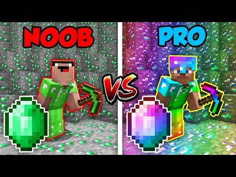 Minecraft NOOB vs. PRO: EMERALD BATTLE in Minecraft!