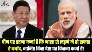 चीन कर्जे में इतना डूबा हुआ है,कि भारत से लड़ने का सोच भी नहीं सकता......
