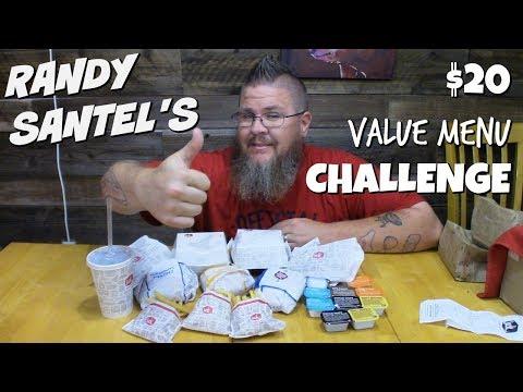Randy Santel's $20 Value Menu Challenge || Jack in the Box