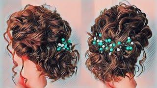 Прическа на густые короткие средние волосы Прическа на каскадную стрижку Short Hairstyles LOZNITSA
