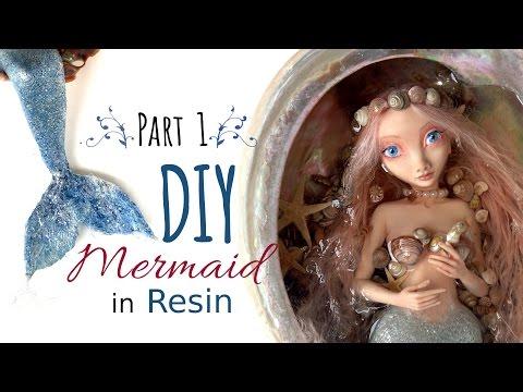 DIY Polymer Clay Mermaid Art Doll - Part 1 of 2 - Sculpt Head & Hands Polymer Clay & Resin Tutorial